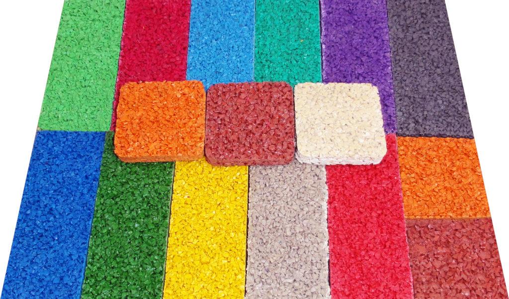 Ыозможные цвета бесшовного резинового покрытия